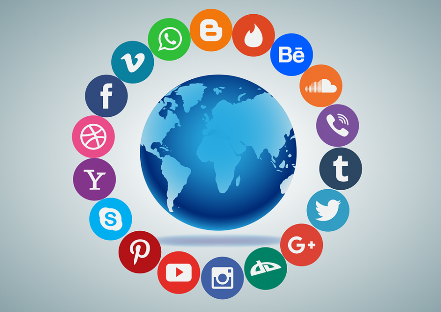 Various social media platforms are used around the world.